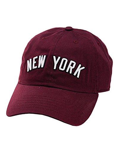 NYfashion101 Casquette Unisexe Ajustable Divisée en 6 Panneaux et Brodée New York, Visière Basse.
