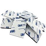 Simply the Best 3m EVA Noir ou blanc en mousse de montage Coussinets ~ 60mm x 40mm x 2mm d'épaisseur ~ Attachment ruban adhésif double face en mousse–Modèle: 9448A, noir, 10 Individual Pads