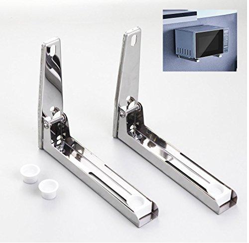 OTTOCASA Mikrowelle Backofen Wandhalterungen Edelstahl Universal Regal Mikrowellenhalterung Multifunktionshaken (Mikrowellenhalterung) -