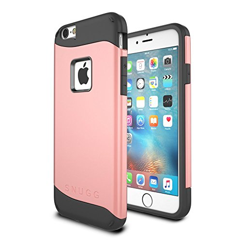 Cover iPhone 6 / 6s, Snugg Apple iPhone 6 / 6s Custodia Case [Scudo Sottile] Protettiva Per Pelle – Blu, Infinity Series Rose Gold