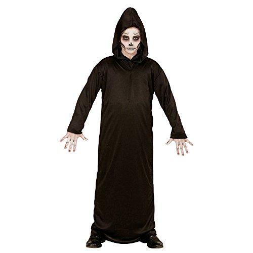 Widmann 00017 - Kinderkostüm Sensenmann, Robe mit Kapuze, Größe 140, (Grim Reaper Roben)