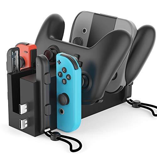 Bestand estación de carga muelle de carga 4 en 1 para Nintendo Switch Joy-Con controladores y Nintendo Switch controlador profesional