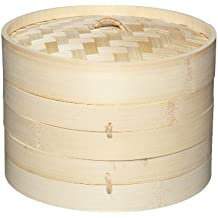 Kitchencraft Oriental Vaporera con Pisos, Bambú, Beige, 20x20x14 cm