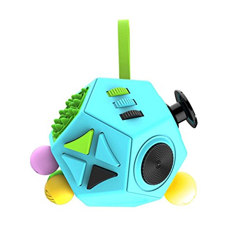 DeYoun Fidget Cube Toys 12 Sides Anti-anxiety and Stress Relief Desk Toy for Children Kids and Adults (Multi-Color) - 2