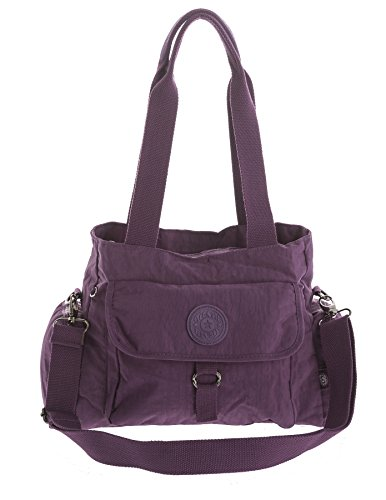 Big Handbag Shop, Borsa a tracolla donna Messenger Style 2 - Purple