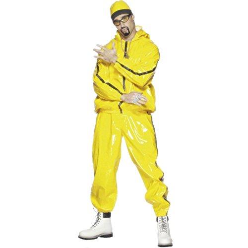 stüm Gangster Outfit Gelb M 48/50 Ali G Rapperkostüm Pimp Karnevalskostüme Männer Herren ()