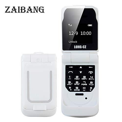 Long CZ J9 Das kleinste Blutooth-Telefon Mini-Flip-Telefon 2G GSM-Kunststoff-Geschenk Voice Changer 3 in 1 Bluetooth-Headset Dialer 18g (Weiß) -