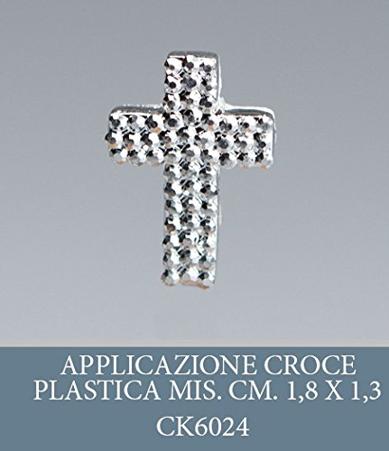 Emballage plastique 50 pièces, Bonbonnière application, croix, dimension cm 2, pour marque-place, composition Confetti. (ck6024)
