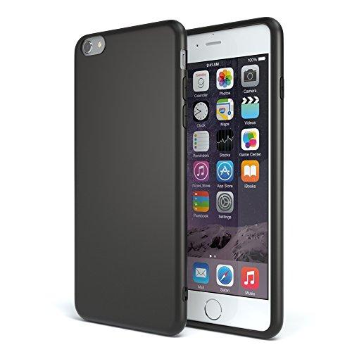 EAZY CASE Handyhülle Silikon mit Kameraschutz Apple iPhone 6 / iPhone 6S in schwarz matt, Ultra dünn, Slimcover, Silikonhülle, Hülle, Softcase, Backcover