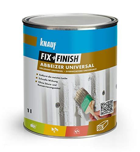 Knauf 594206 Fix+Finish Abbeizer universal, farblos, 1 l