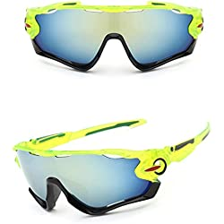 Zolimx Las Nuevas Gafas de Sol de la Lente UV400 Que Completan un Ciclo Los Vidrios de Ciclo de la Bici de Montaña de Los Deportes (Verde)