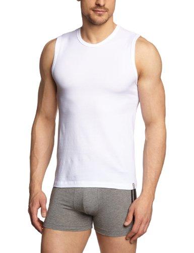 Schiesser Herren Unterhemd Tank Top, Gr. Medium (Herstellergröße: 5 (M)), Weiß (100-weiss) (Top Tank Pima-baumwolle,)