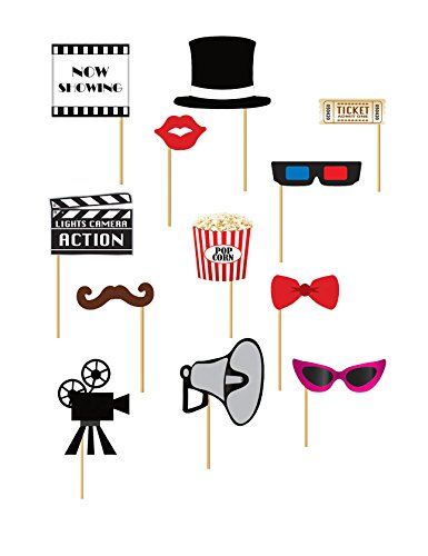 Guirca Fiestas GUI7205 - Set Photocall Kino 12 Stück Kino