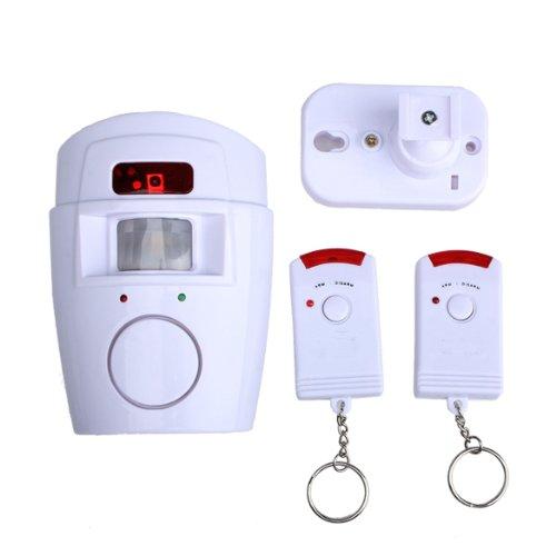 Hrph Home Security Wireless Motion Sensor Alarm und Sirene mit 2 Fernsteuerungs (Home-alarm Wireless)