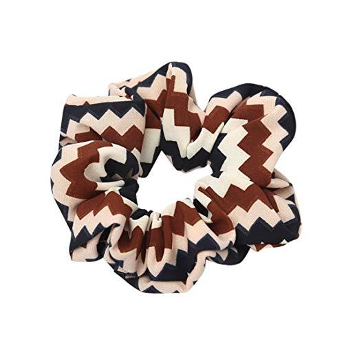 Carry stone Frauen Elastisches Haar Seil Ring Krawatte Scrunchie Pferdeschwanz Inhaber Haar Stirnband Hohe Qualität (Krawatte-scrunch)