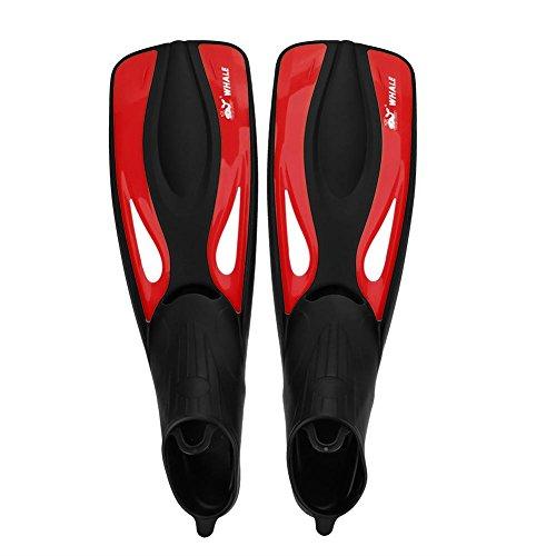 Alomejor 1 Paio Pinne per Immersione, Pinne per Nuoto Pinne per Immersione Pinne per Immersioni con Materiali TPR E Pp per Nuoto E Immersioni (Rosso)(L)