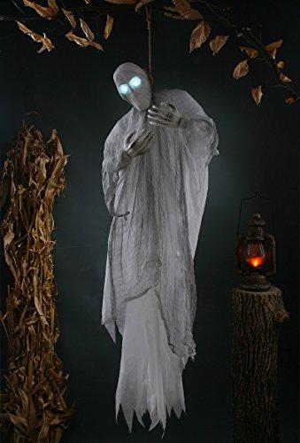 SV Halloween Horror Hänge Phantom lebensgroß mit Leuchtaugen Horror XXL