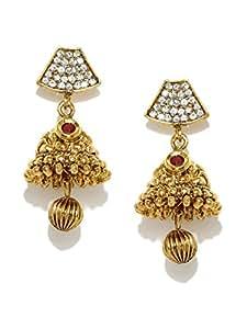 Zaveri Pearls Gold Plated Jhumki Earring For Women - ZPFK5032