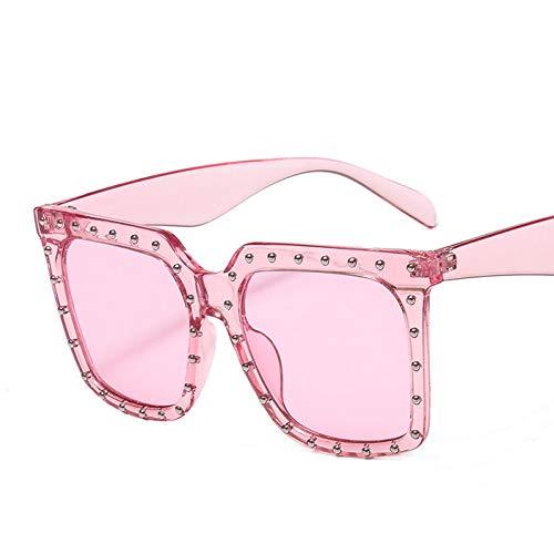 Taiyangcheng Polarisierte Sonnenbrille Klassische quadratische Sonnenbrille Frauen Marke Vintage Retro niet schrittweise grau Sonnenbrille männer weibliche Schatten oculos uv400,Rosa