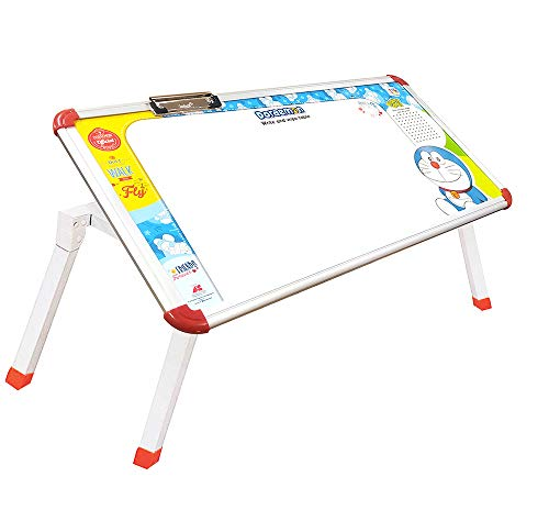 itoys Multipurpose Foldable Laptop Study whiteboard Writing Bed Breakfast Tray Table with Adjustable Magnetic Legs Write & Wipe Table for Kids (24X12X9.5 inch) (Character)