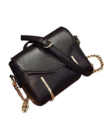 Damentaschen Frauen Kleine Schultertaschen PU Leder Langer Bügel Einkaufstaschen Rot Schwarz