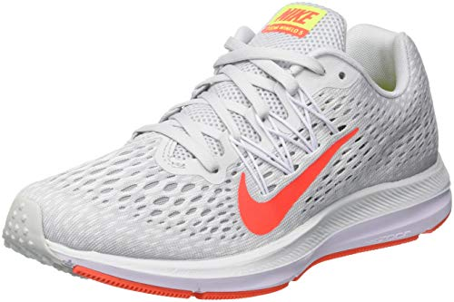 Nike Zoom Winflo 5, Scarpe Running Donna, Multicolore (Pure Platinum/Bright Crimson/White 005), 38.5 EU