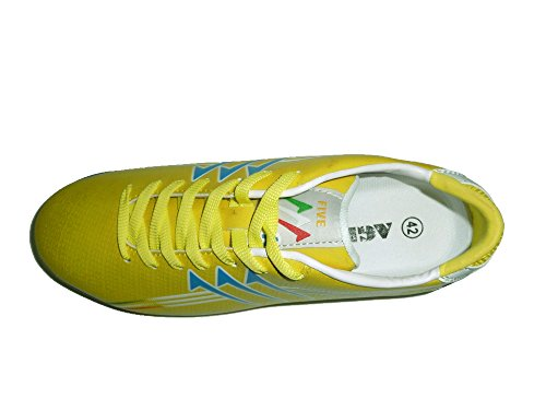 AGLA FIVE INDOOR PROFESSIONAL NEW Chaussures de football avec anti-choc Blanc Cassé - jaune