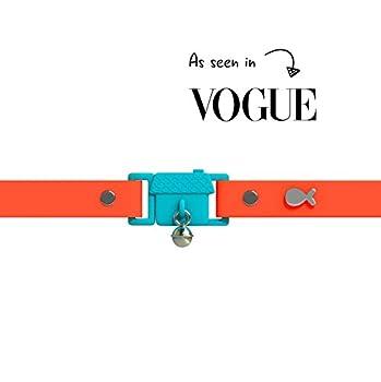 Gagnant du Prix, Tangerine, Kittyrama Collier pour Chat. Vu en Vogue