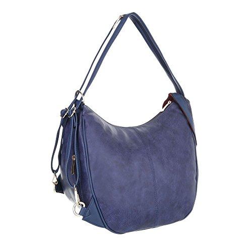 Kleine iTal Damentasche dEsiGn A901 Blau In TA Handtasche Schultertasche Used Optik Kunstleder SnFfxn