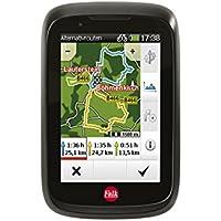 Falk Fahrrad GPS-Navigationsgerät Tiger Geo, kapazitiver Touchscreen, 25 Länder, integrierte Fahrradhalterung gerät, Schwarz/Rot, OneSize