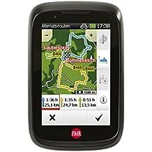 """Falk Fahrrad GPS Navigationsgerät Tiger Geo, 3,5"""" kapazitives Display, 25 Europäische Länder, Trackaufzeichnung, Rundkursfunktion, Fahrradhalterung, Schwarz/Rot"""