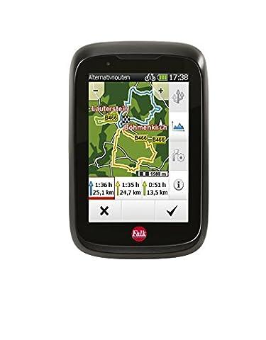 Falk Fahrrad GPS-Navigationsgerät Tiger Geo, kapazitiver Touchscreen, 25 Länder, integrierte
