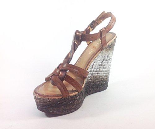 Décontracté Sandales femmes chaussures WM09 calage en simili cuir Multicolore - Cuoio