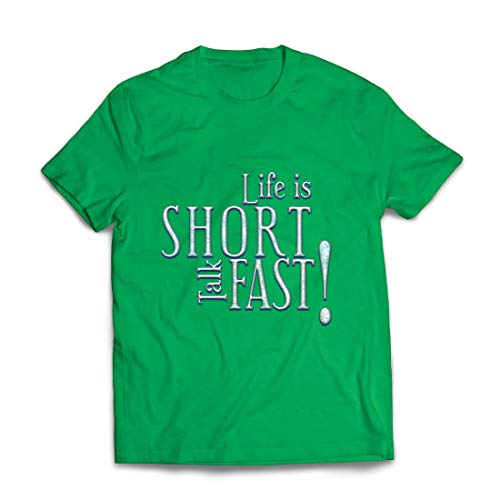 Für Kostüm Verkauf Schwester Kleine - lepni.me Männer T-Shirt Das Leben ist kurz, schnell reden, lustig inspirierend zitieren (XX-Large Grün Mehrfarben)