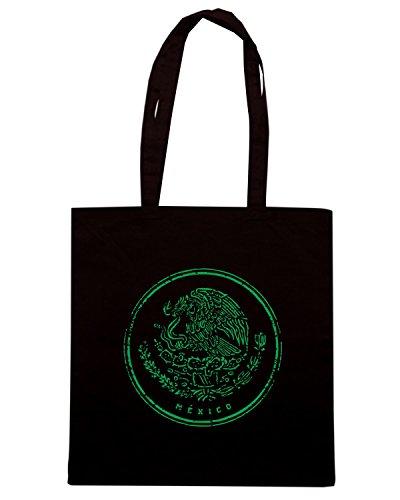 T-Shirtshock - Borsa Shopping WC0500 MEXICO T-SHIRT MEXICO ICON Nero