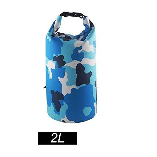 chgjhh Trocken Tasche, wasserdicht mit langem verstellbarem Schultergurt für Boot und Kajak,, Angeln, Rafting, Schwimmen, Camping und Snowboarden, Color blue2