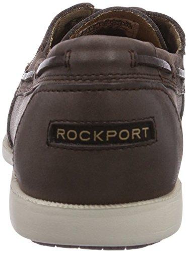 Rockport 2-EYE Herren Bootsschuhe Braun (Dk Brown)