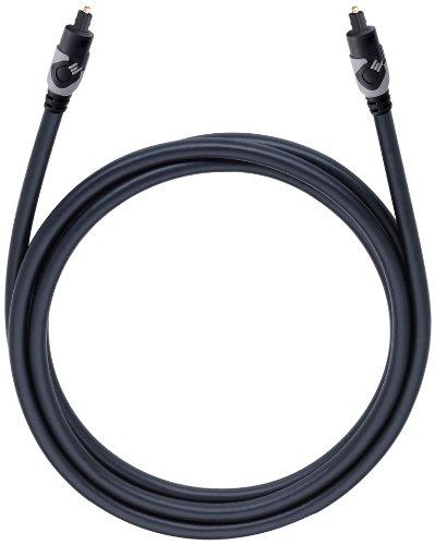 Oehlbach Easy Connect Opto 150 | Optisches Digitalkabel mit Toslink-Stecker | Geeignet für Soundbar, Blu-Ray Player & PS4  | 1,50 m - schwarz