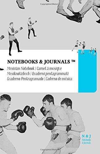 Carnet de Musique Notebooks & Journals, Boxe (Collection Vintage), Large: Couverture souple (13.97 x 21.59 cm)(Carnet à musique, Cahier de musique)