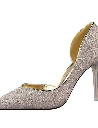WSS 2016 Chaussures Femme-Décontracté-Noir / Bleu / Argent / Or / Bordeaux-Talon Aiguille-Talons-Talons-Laine synthétique silver-us5.5 / eu36 / uk3.5 / cn35