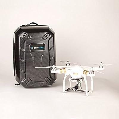 HOBBYTIGER Hardshell Backpack Case for DJI Phantom 3 Professional Advanced 4K Quadcopter