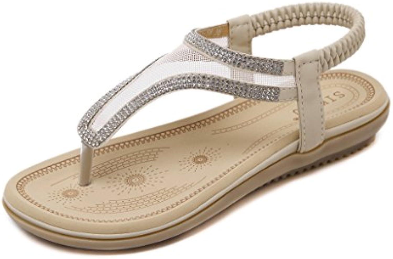 fortuning est jds respirable grenadine des sandales flat flat flat string sandale avec shiny strass pour les femmes b06zy4lrvl parent | Exquis (en) Exécution  4221ff