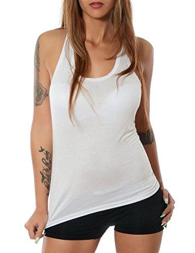 Damen Tank Top (weitere Farben) No 13303, Farbe:Weiß;Größe:One (Kostüme Ness Alt)