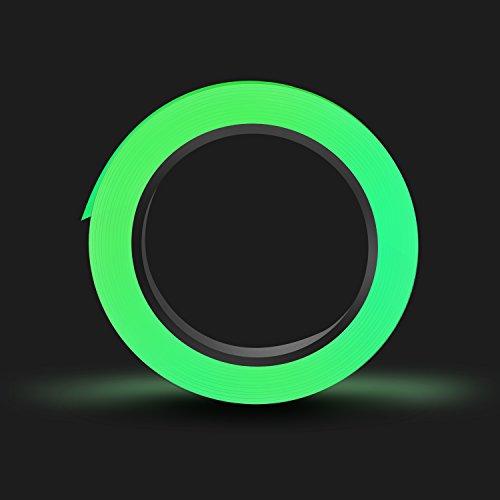 Fluoreszierendes Klebeband,10m×15mm Phosphor Markierungsband Leuchtendes Band, SMAtech Nachtleuchtend Selbstklebendem Wasserdicht Luminous Tape Warnband Bühnenbedarf -