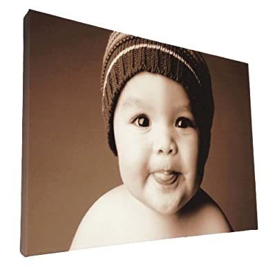 "Your my photo picture on personalised wall canvas size A1 32""x24"" inch"