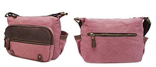 Xinmaoyuan uomini borsette panno con borsa tracolla in pelle Sezione canto Zipper Borsa messenger in tela Bag Men ,grigio Rosso