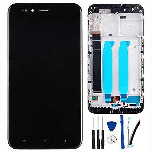 """SOMEFUN Pantalla Táctil LCD de Digitalización Asamblea Pantalla de Recambio para Xiaomi Mi5X / Mi 5X / MiA1 / Mi A1 5.5"""" Negro con Marco"""