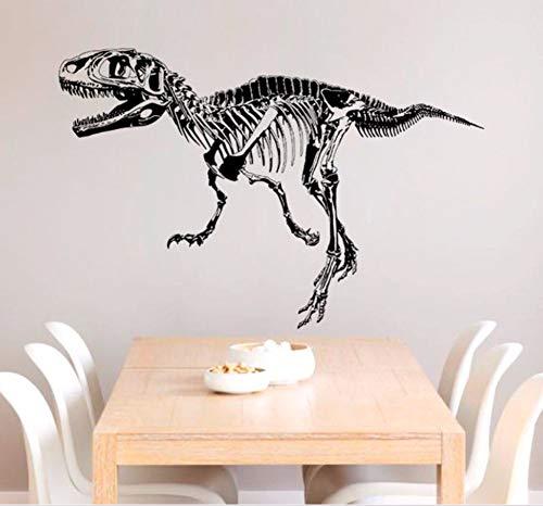 Zxfcczxf Dinosaurier Fossil Moderne Kunst Wandaufkleber Schwarz Dinosaurier Skelett Silhouette Wandaufkleber Schlafzimmer Wohnzimmer Dekoration S 50 * 70 Cm (Silhouette Skelett Halloween)