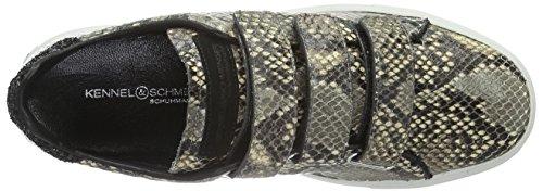 Kennel und Schmenger SchuhmanufakturBasket - Scarpe da Ginnastica Basse Donna Multicolore (Mehrfarbig (camel/schwarz Sohle weiss 664))