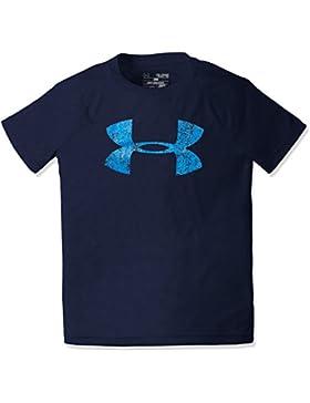Under Armour Ua Tech Big Logo Ss Camisa de Manga Corta, Niños, Azul, YXL